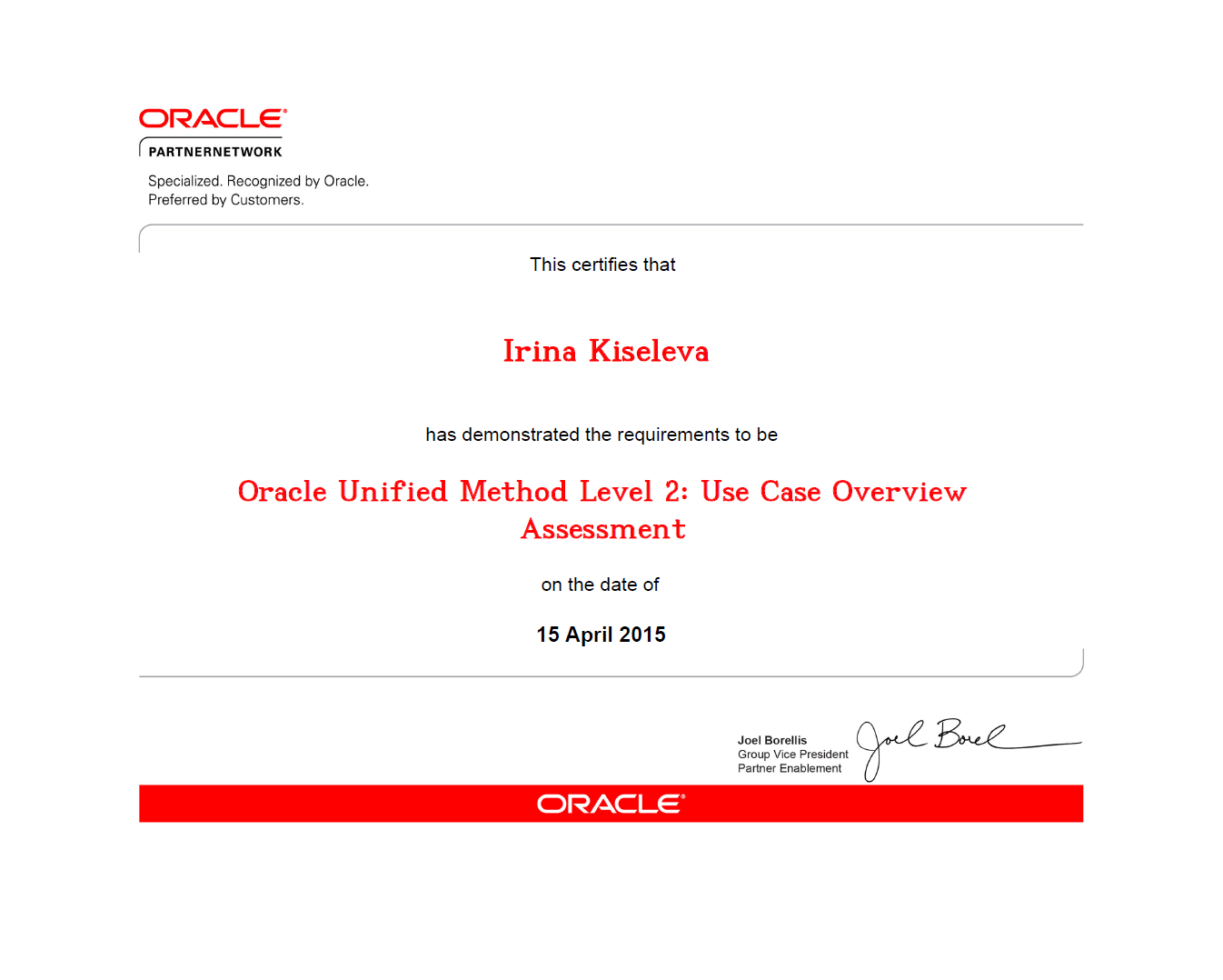 Kiseleva OUM Level 2 Use Case Overview